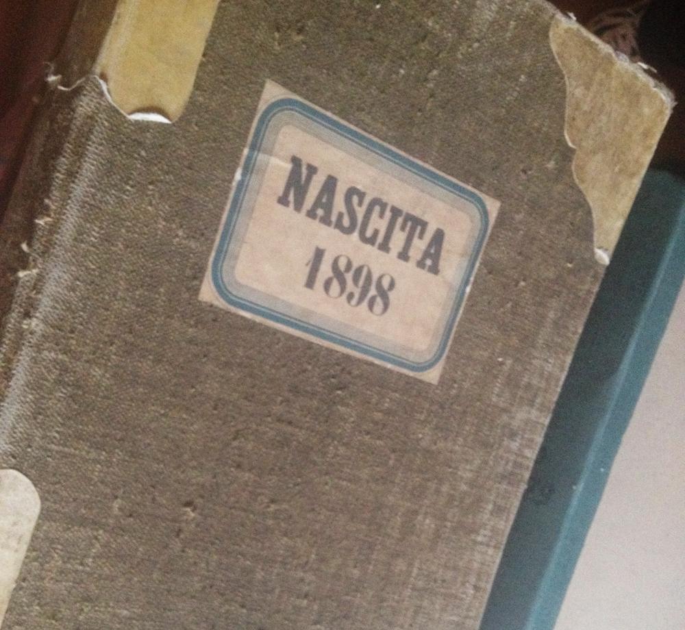 livro de nascimento italiano