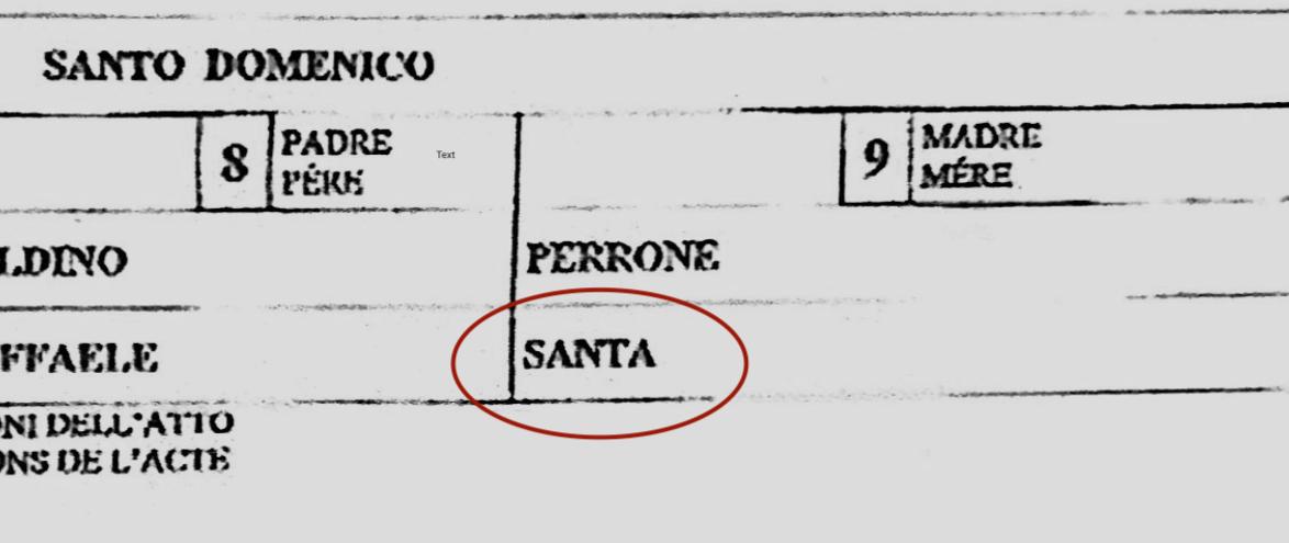 certidão italiana errada
