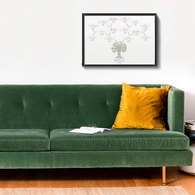 sofa quadro quadrado